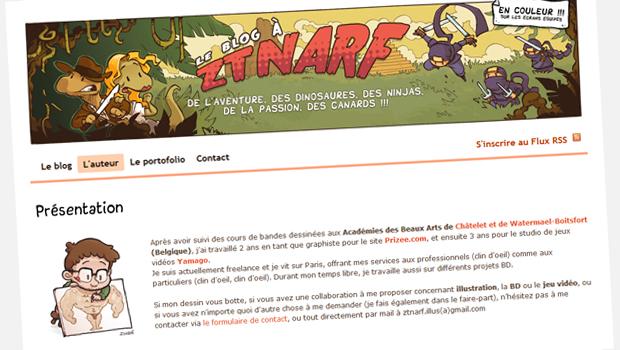 Ztnarf et Ced, du blog BD à la librairie !